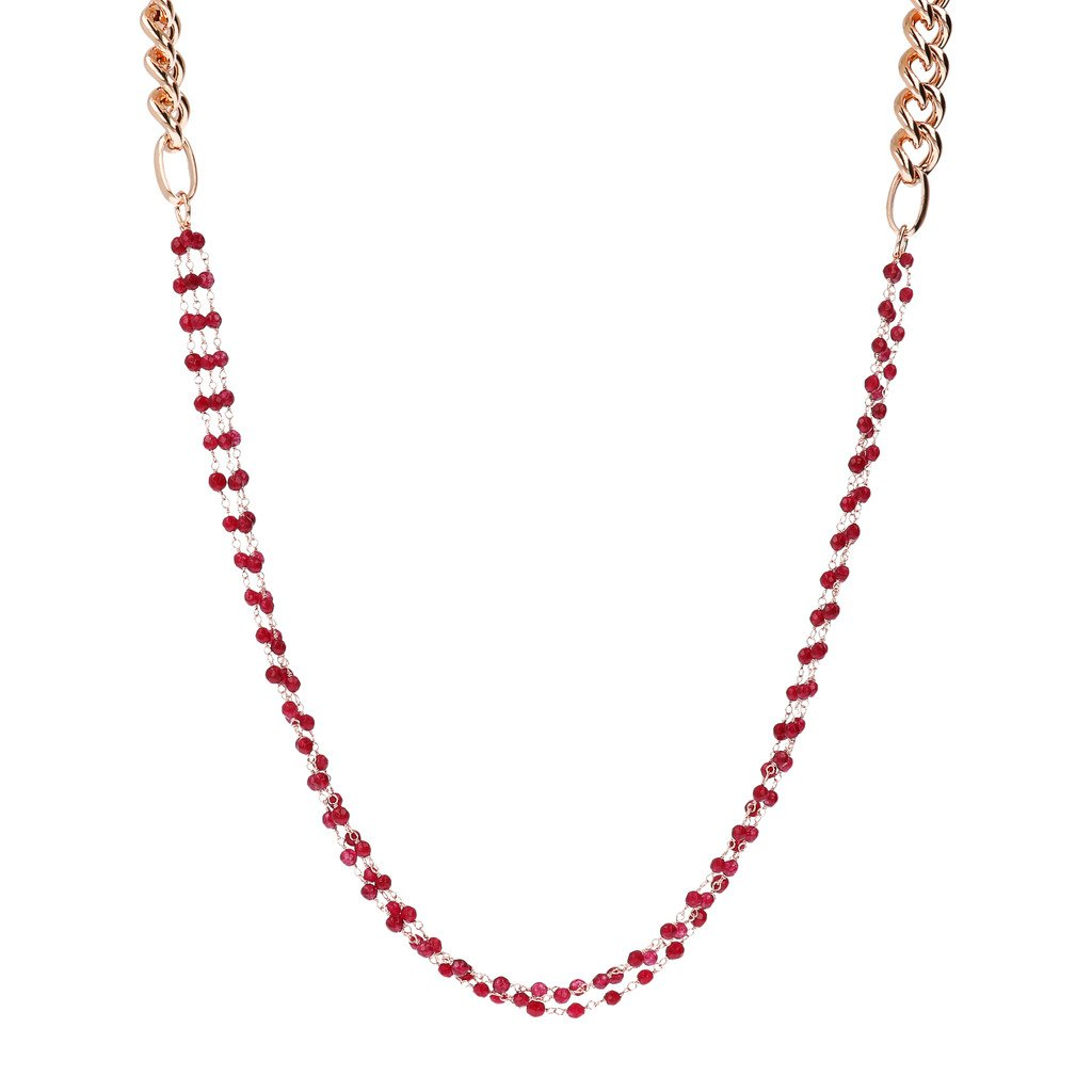 Variegata Multi-Strand Rosary Necklace