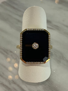 Onyx Diamond Ring