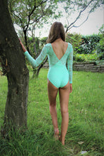 Load image into Gallery viewer, Lace Long Sleeve Leotard - Spearmint