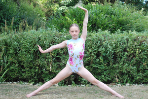 Painted Rose Leotard - Pale Blue