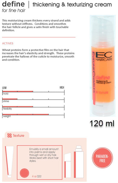 EC Define Thickening & Texturizing Cream 120 ml