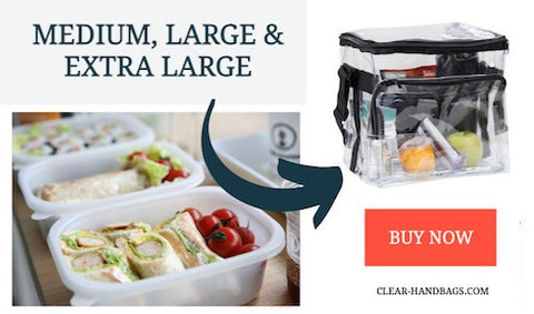 clear lunch bags for meal prep