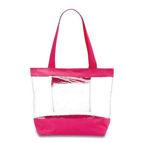 Medium Clear Tote Bag - PINK