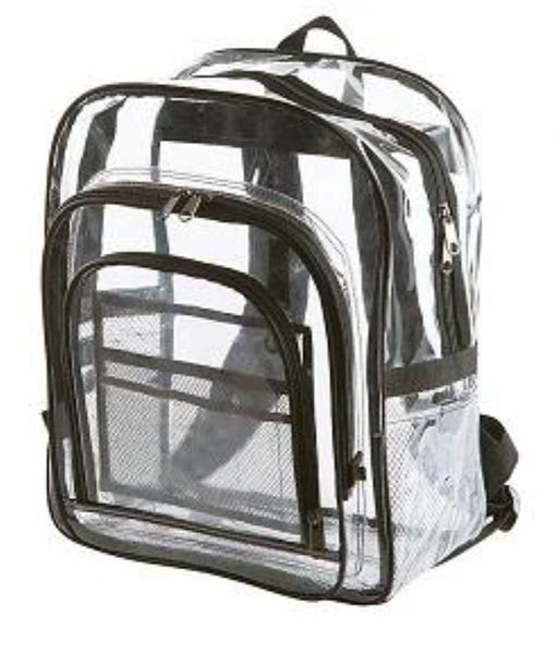 Clear Bookbags For School Multi Pocket With Mask & Hand Sanitizer