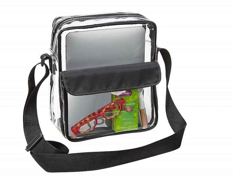 Tablet Size Clear Messenger Bags