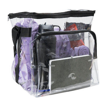 clear bags for work transparent