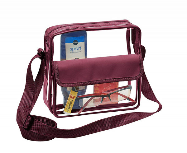 clear crossbody bag for football games