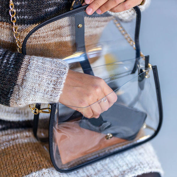 clear designer purse