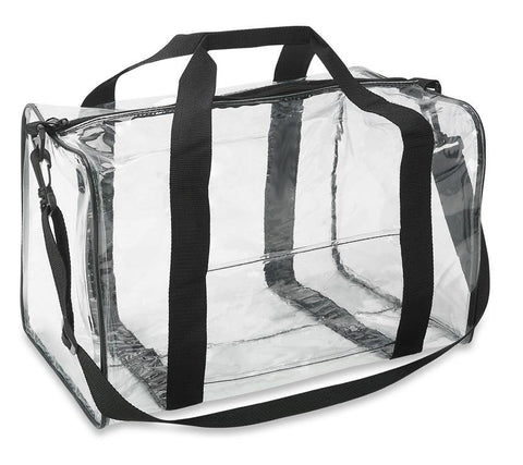 clear duffle bag
