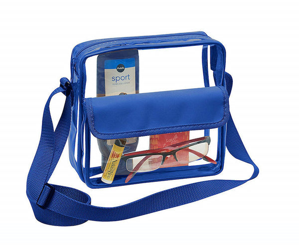 clear stadium bag blue