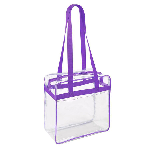 clear stadium bag purple
