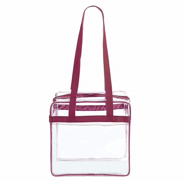 clear stadium bag with zipper