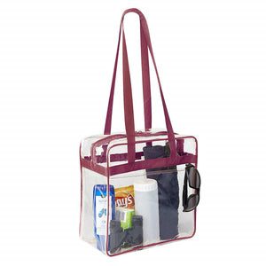 clear stadium tote bag for women