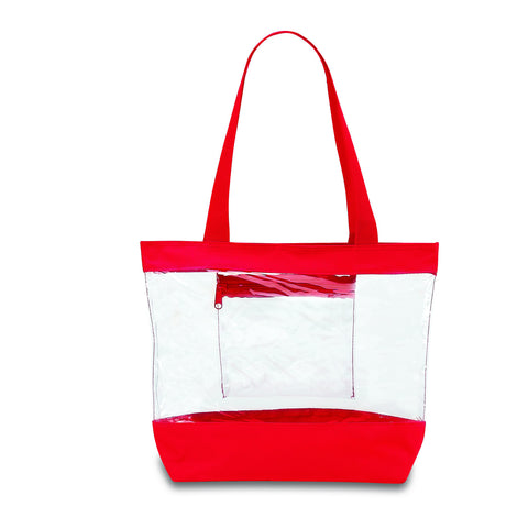 clear tote bags for work red