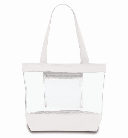 clear tote bags in bulk white
