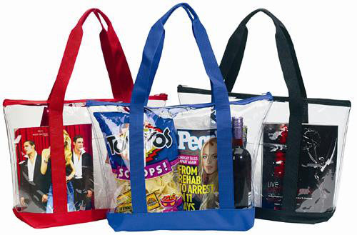 clear tote bags in bulk