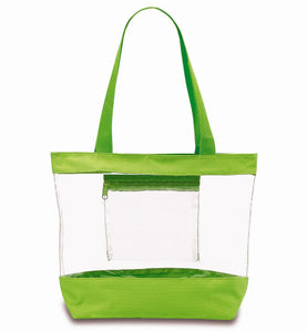 clear tote bags wholesale green