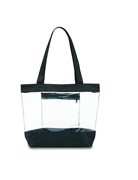 clear tote with pocket