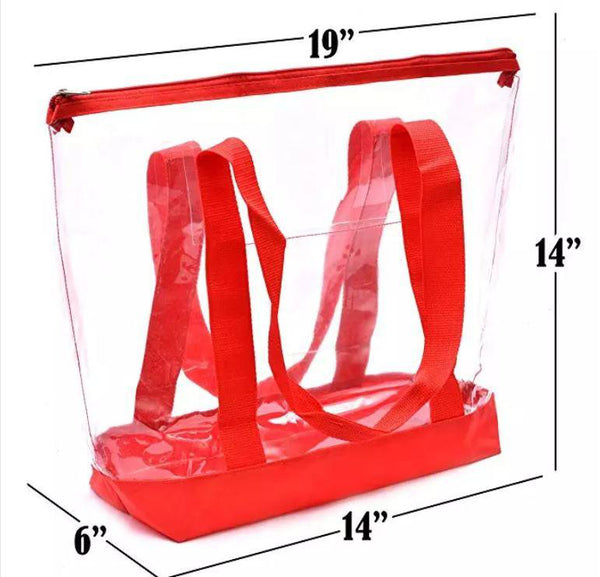 clear totes with zipper