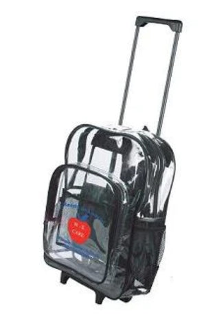 clear wheeled backpack