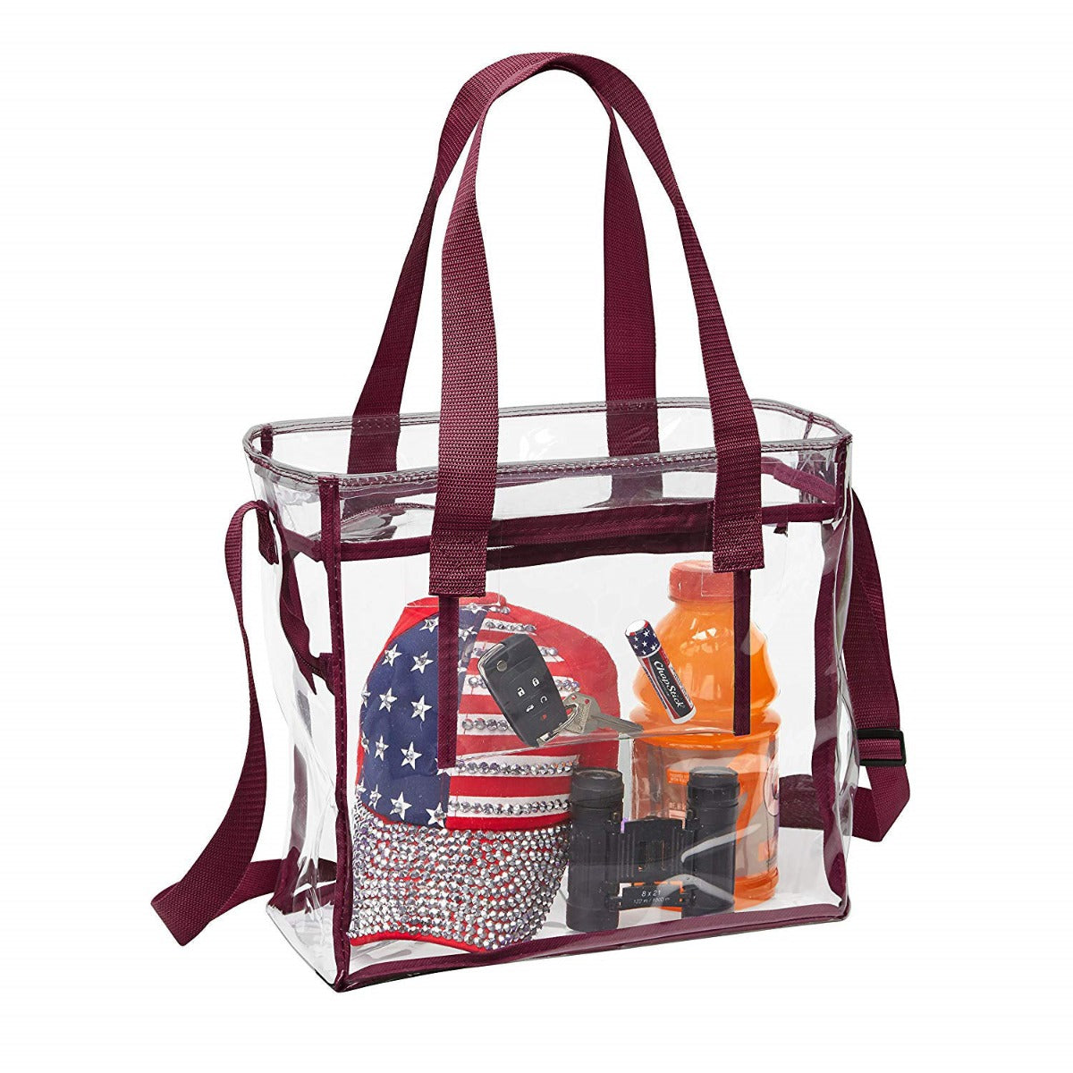 college stadium approved clear bag