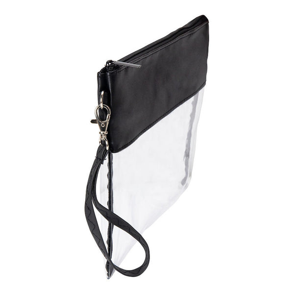 football wristlet clear purse