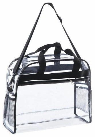 large clear briefcase