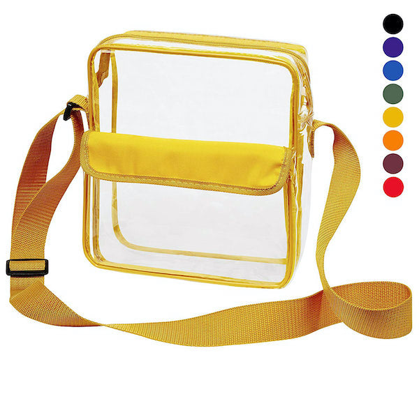 plastic tote bag for football games