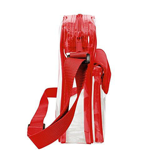 red clear stadium bags