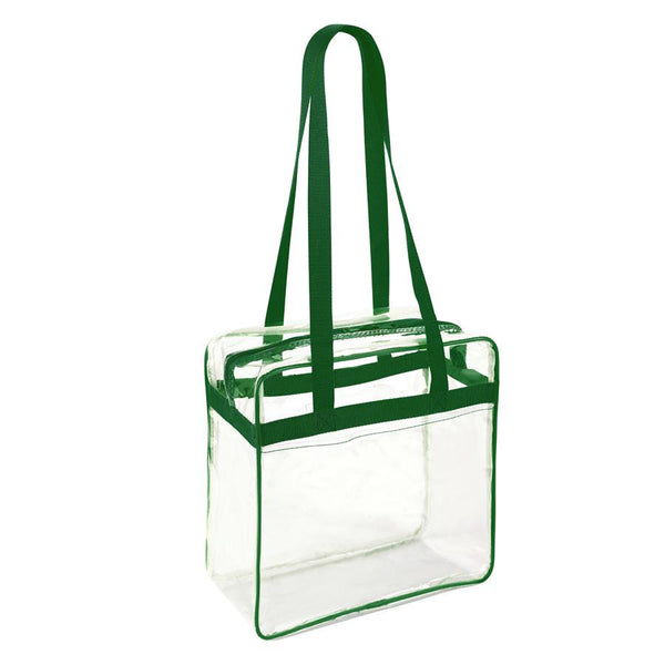 stadium approved clear bags green