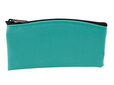 teal pouch with zipper