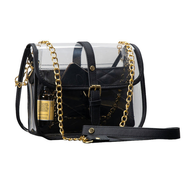 transparent designer purse