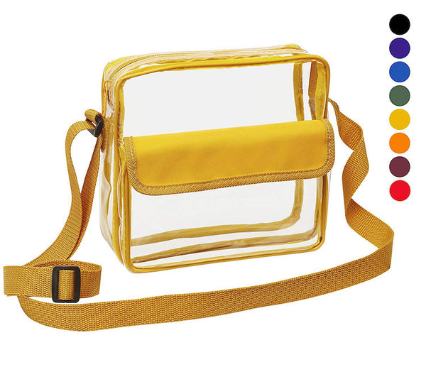 transparent purse yellow