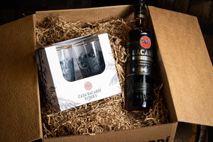 Bacardi Gift Pack Glass