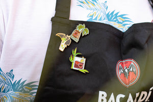 Bacardi pins coleccionista. Collector pins