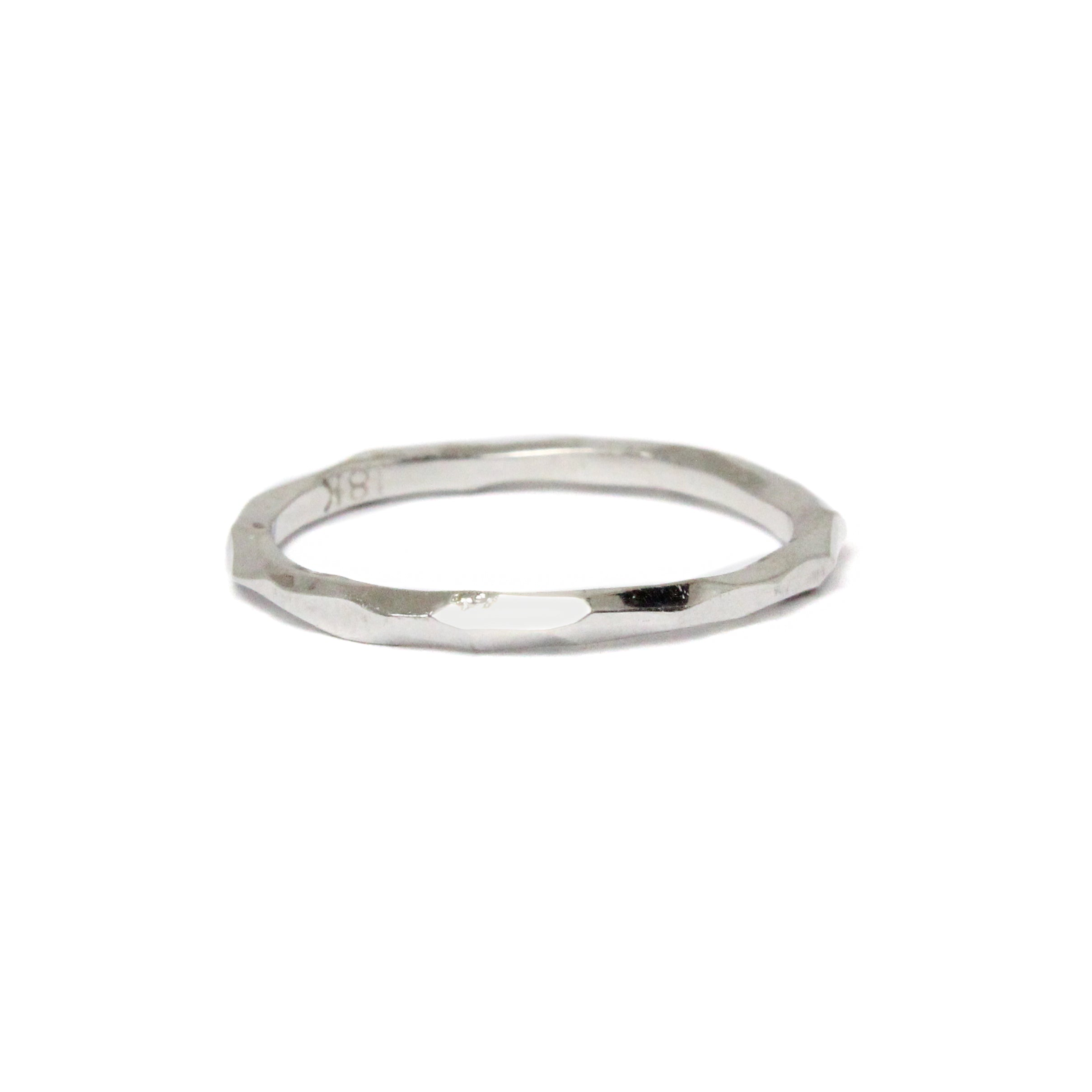 white gold 'rogue river' stacking ring