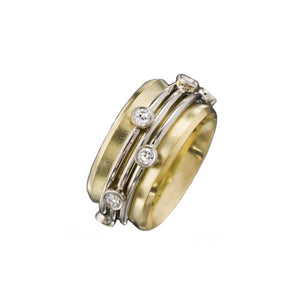 "yellow gold ""orbit"" ring"