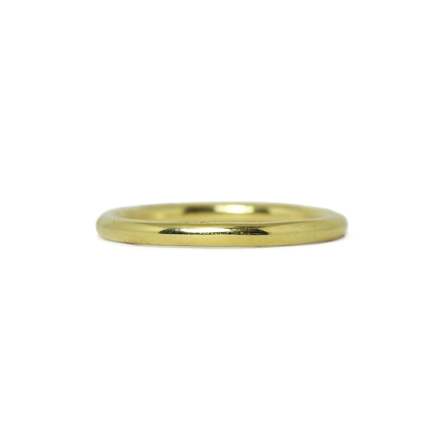 yellow gold plain polished ring