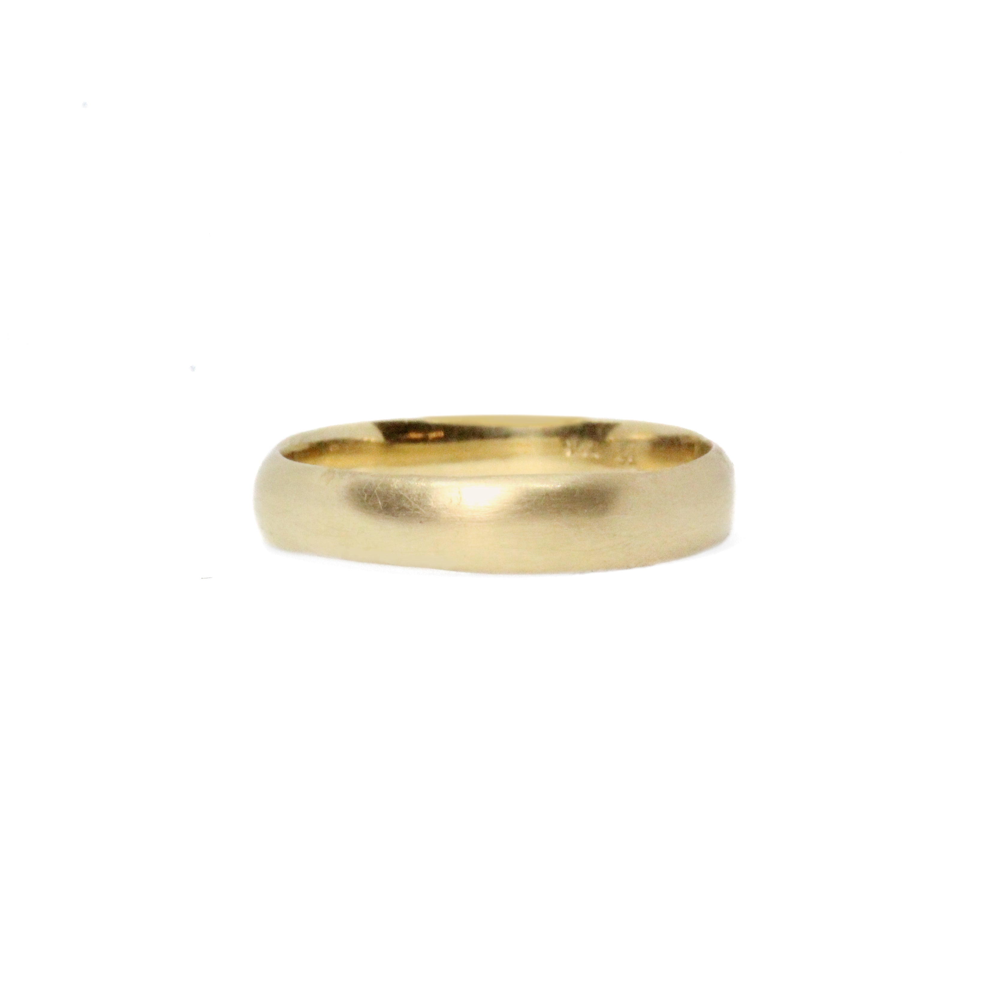 yellow gold smooth band ring