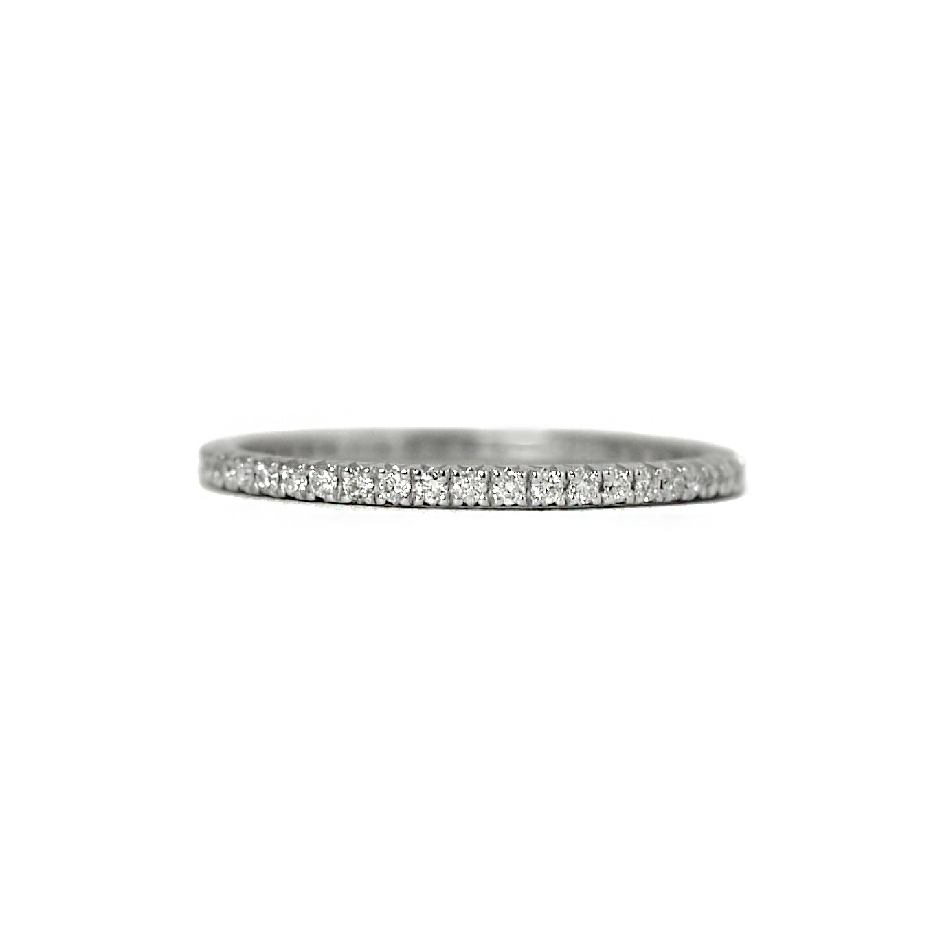 "white gold thin diamond ""odo"" eternity ring"