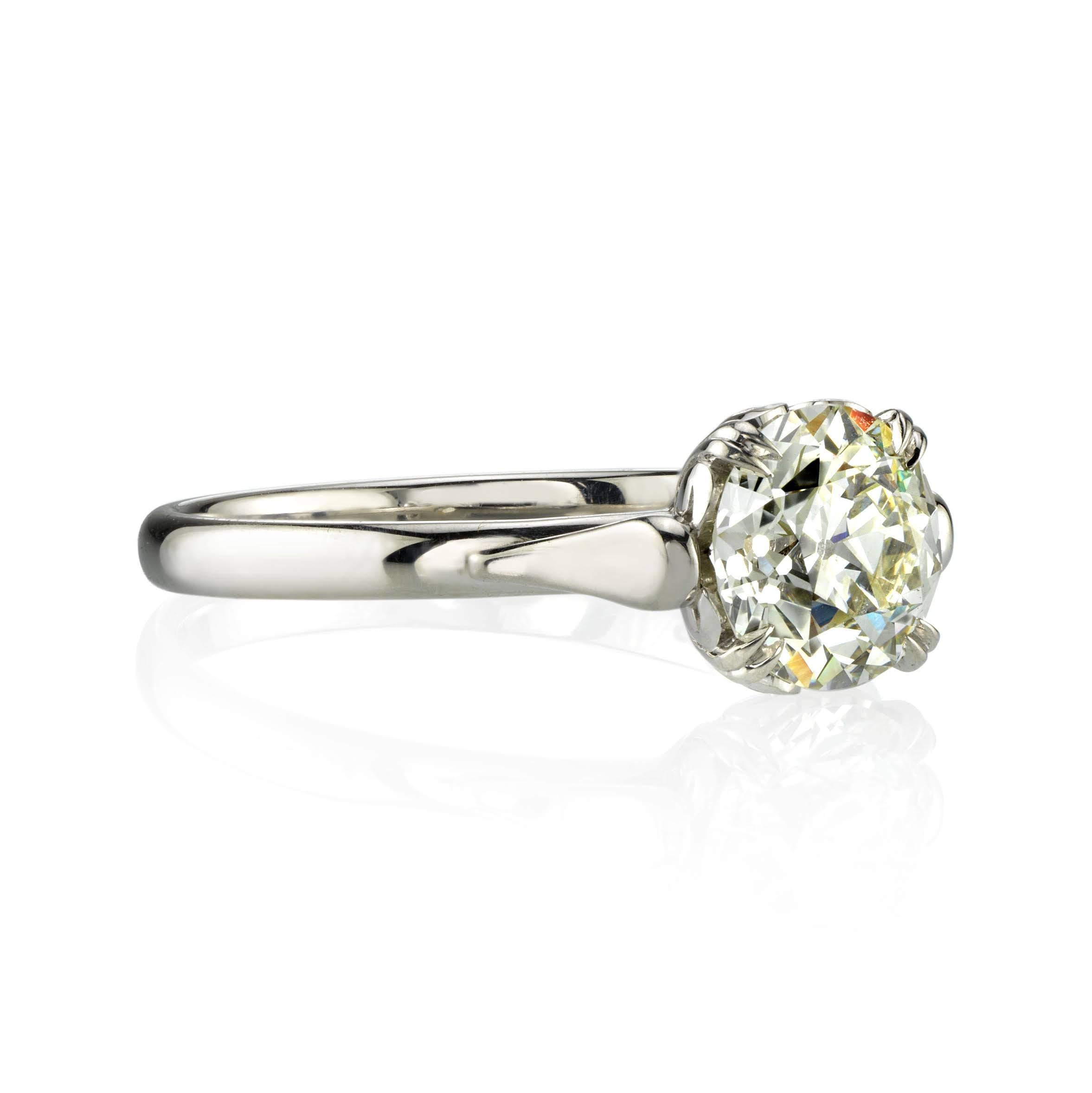 'Sydnee' platinum solitaire diamond ring