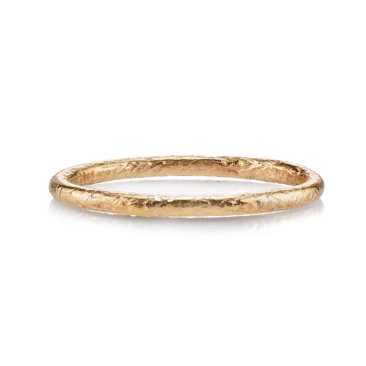 rose gold textured 'small jane' ring