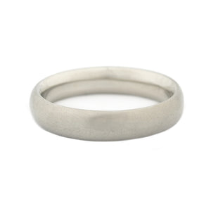 white gold rounded ring