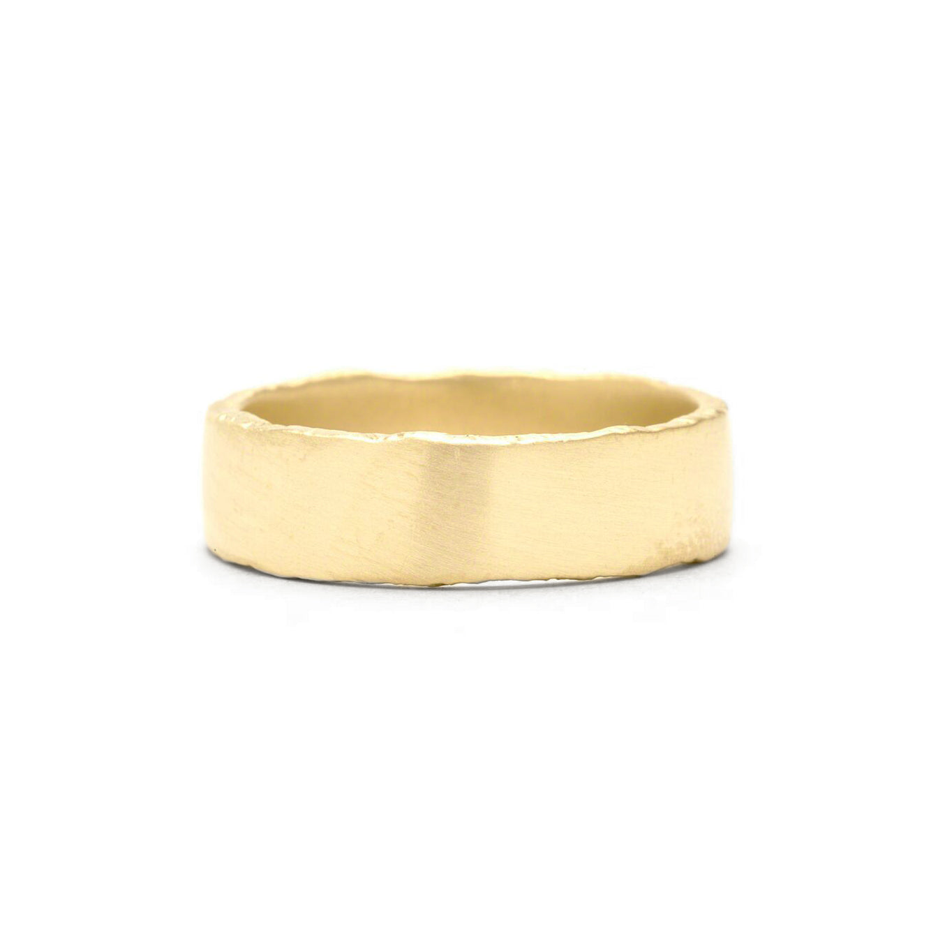 yellow gold rough edge ring