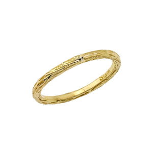 yellow gold 'pebble' ring