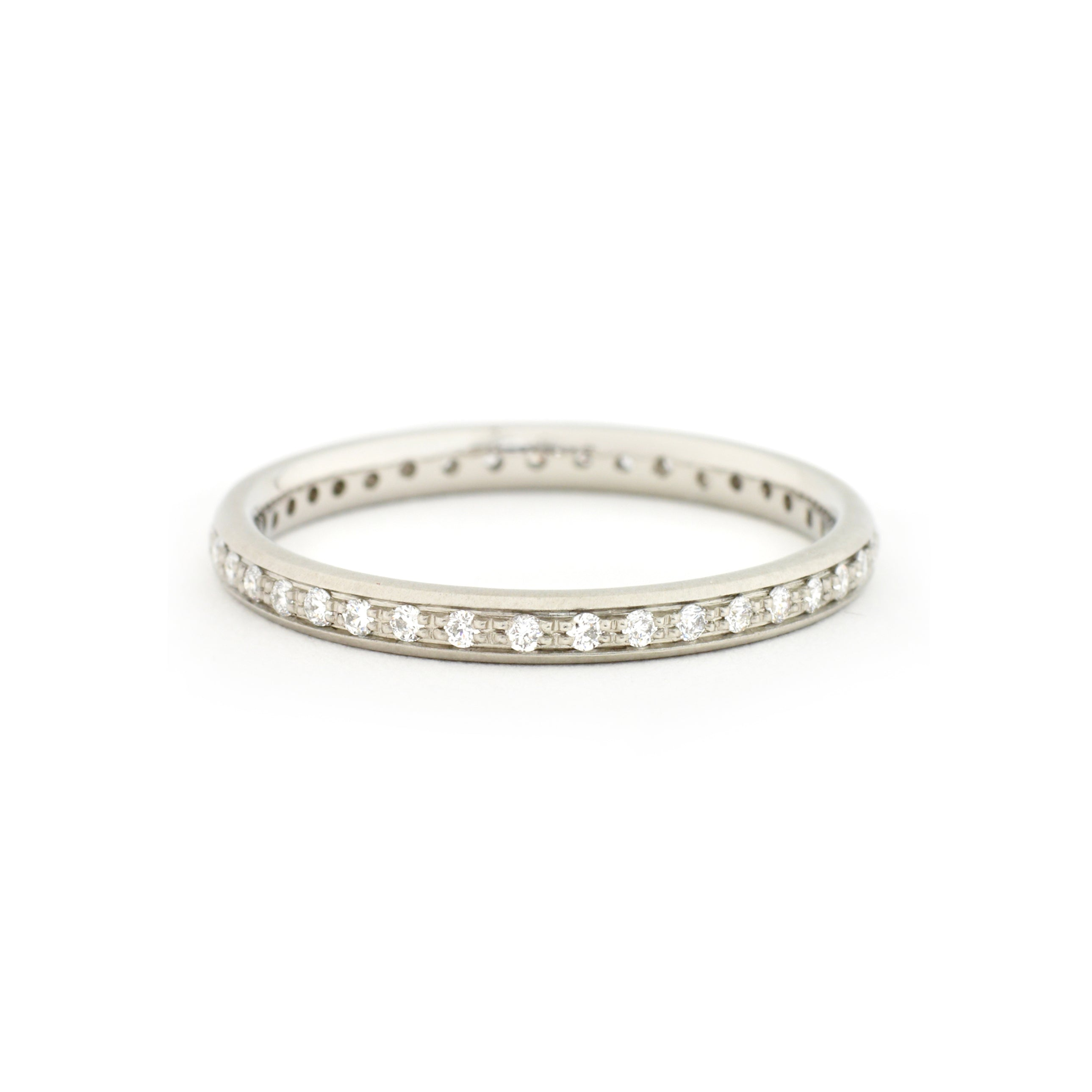 thin diamond pave eternity ring