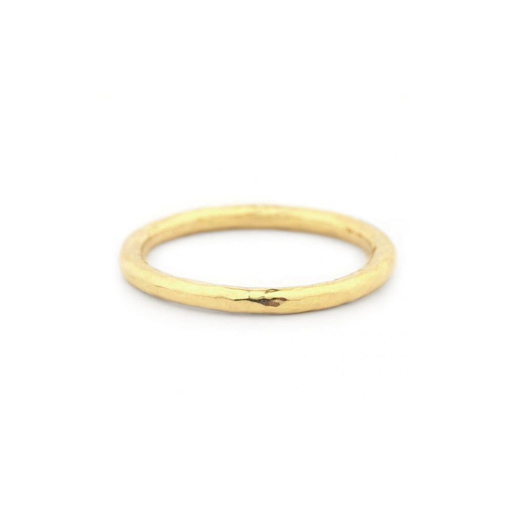 yellow gold textured ring