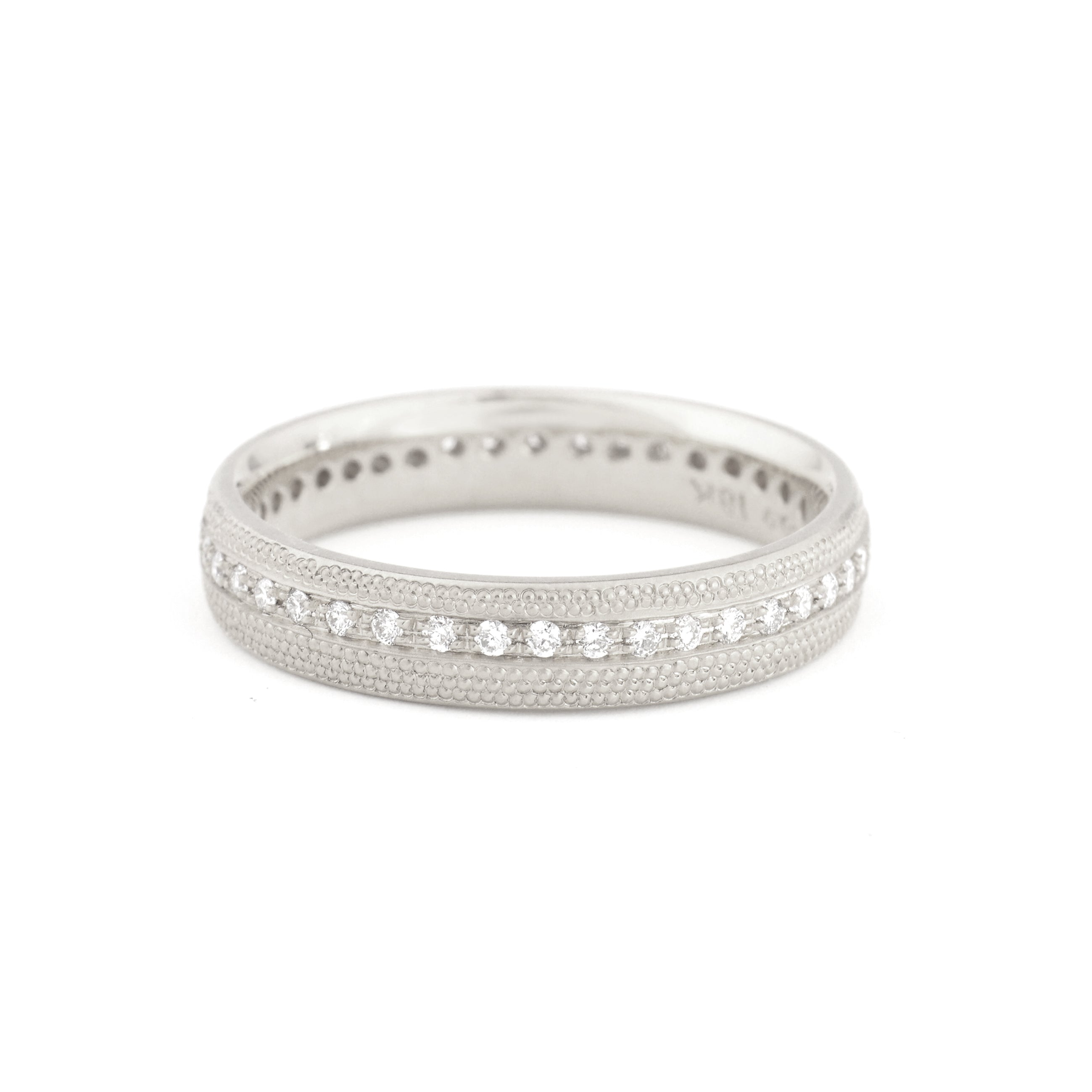 white gold stardust ring