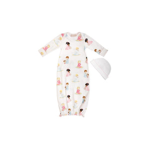 Adorable Everyday Gown Set - Patience & Prayer w/ Palm Beach Pink