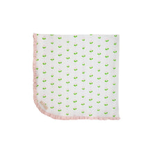 Load image into Gallery viewer, Baby Buggy Blanket - Old Town Tulip w/ Palm Beach Pink